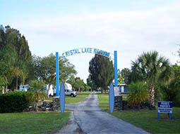 welcome to Crystal Lake RV Park in Mims Florida